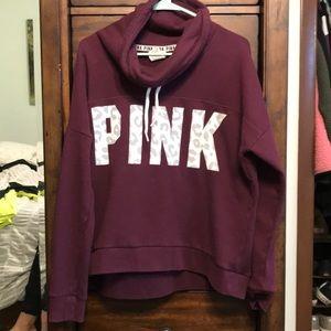 Pink Victoria secret sweatshirt size large